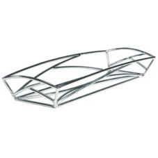 Delfin 18x6x2 in. Solid Rolled Steel Element Basket W/Chrome Finish