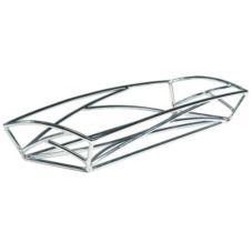 "Delfin BK-186EM 18"" x 6"" x 2"" Solid Steel Element Basket - 4 / CS"
