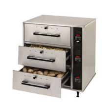 Star® Mfg 3-Drawer Narrow Food Warmer w/ Individual Controls