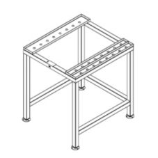 Alto-Shaam® 5007698 S/S Stationary Stand for CombiTherm Ovens