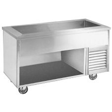 Randell® 14G SCA-2S Refrigerated 2 Pan Open Base Cold Food Table