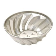 "Focus Foodservice 90THM8 Aluminum 8-1/2 x 3-1/2"" Turks Head Pan"