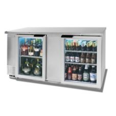 Beverage-Air BB68G-1-S Refrigerated Backbar Cabinet with 2 Glass Doors