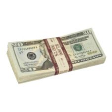 Purple Currency Strap for $20.00 Bills