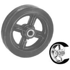 "Win-Holt® 711 Replacement 6"" x 2"" Mold On Rubber Wheel"