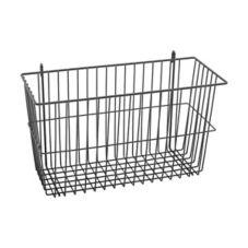 "Metro® H212B Super Erecta® 17 x 7 x 10"" Black Storage Basket"