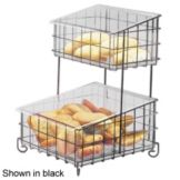Cal-Mil 1203-49 Chrome 2 Tier Bread / Bagel Unit w /Plastic Inserts