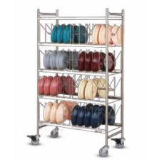 "Dinex® Dome Storage Cart w/ Wash Rack f/ (100) 9"" Dome Covers"