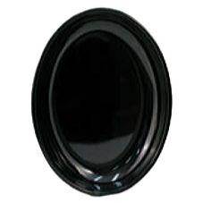 Dover Metals P-830APBK Black Oval Melamine Platter