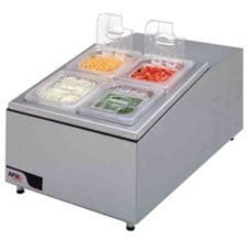 APW Wyott RTR-4 S/S Countertop Refrigerated Condiment Dispenser
