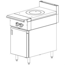 "Vulcan Hart 18"" Gas Range w/ French Top and Cabinet Base"