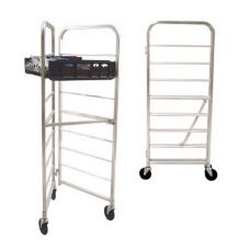 New Age Industrial 97480 Mobile Folding Bread Rack for 8 Bread Trays