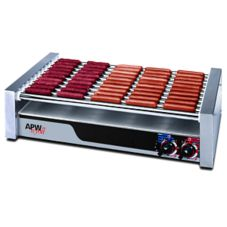APW Wyott HR-50 HotRod® Flat Roller Grill for 850 Hot Dogs
