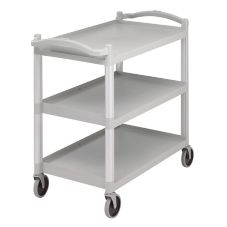 Cambro BC340KD480 Speckled Gray 3 Shelf Open Service/Utility Cart