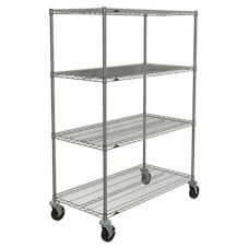 "Metro® N556BC Super Erecta® 24 x 48"" Chrome Stem Caster Cart"