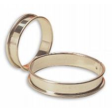 "Matfer Bourgeat 371616 10-1/4"" x 3/4"" Plain Tart Ring"