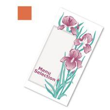 Dinex® DX6SM0811585 Iris Garden Orange Patient Menu - 2000 / CS
