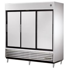 True® 3-Section 69 Cu Ft Reach-In Solid Slide-Door Refrigerator