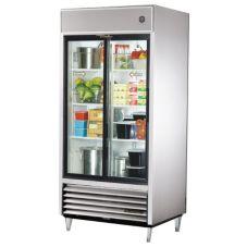 True TSD-33G-LD S/S 33 CF Reach-In Refrigerator With 2 Sliding Doors