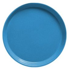 "Cambro 1100105 Horizon Blue 11"" Camtray Round Serving Tray - 12 / CS"