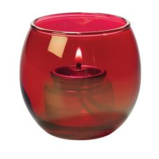 Hollowick® 5119R Ruby Lustre Small Bubble Tealight Lamp