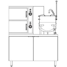 Blodgett 6G-6K-SB 6 Pan Steamer and Gas Boiler Base w/ 6 Gallon Kettle