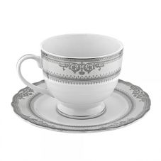 Ten Strawberry Street VAN-9P Platinum 8 Oz Cup / Saucer - 24 / CS