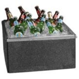 Gourmet Display® BH4619 Gray Marble Collapsible Beverage Housing