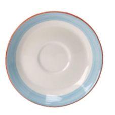 "Steelite 15310218 Simplicity Rio Blue 6"" Saucer - 36 / CS"