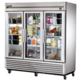 True TS-72G TS-Series 3-Glass Full Door 72 Cu Ft Reach-In Refrigerator