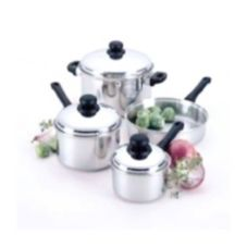 Regalware® S/S 7 Piece Cookware Set with S/S Covers