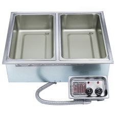 APW Wyott HFW-2 Electric Drop-In 2-Pan Hot Food Well Unit with EZ-Lock
