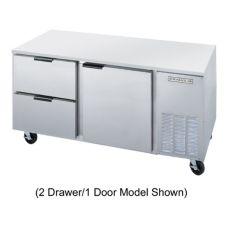 Beverage-Air UCRD46A-2 S/S 1-Door 2-Drawer Undercounter Refrigerator