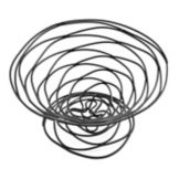 "American Metalcraft Black 9"" Birdnest Wire Basket"