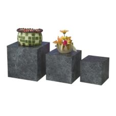 Gourmet Display® TT334-4 Gray Marble 3 Piece Laminate Cube Set