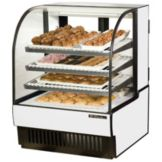True® Curved Glass Dry Bakery Display Case, 16.8 Cubic Ft