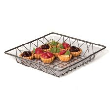 "Willow Specialties 80606 12"" Square Metal Wire Tray"