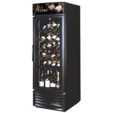True® Glass Door Radius Front Wine Merchandiser, 23 Cubic Ft