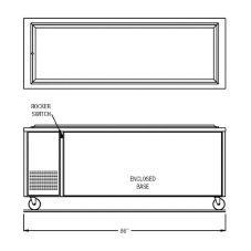 "Randell® 14G FTA-6S RanServe 86""L Mobile Frost Top Unit"