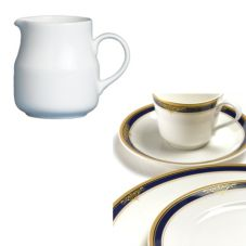 Steelite 42034323 Royal Court Gold Pia Blue 3-3/4 Oz Creamer - 24 / CS