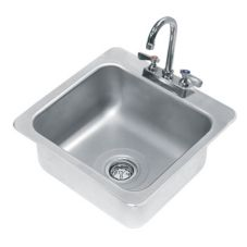 "Advance Tabco DI-1-168 One Compartment 16"" x 14"" x 8"" Drop-In Sink"