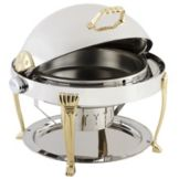 Bon Chef 12009 Elite Stainless Round 2 Gallon Chafer with Aurora Legs