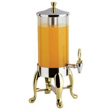 Buffet Enhancement Delux SS 1.8 Gal/4L Juice Dispenser W/4 Brass Legs