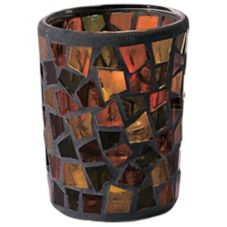 Candle Lamp® Earthtones Mini Mosaic Votive Glass