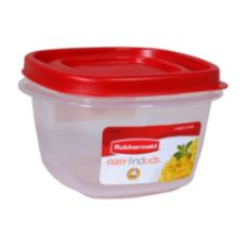 Rubbermaid® 1777085 2 Cup Easy Find Red Lid Container