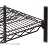 "Metro 1448QBL qwikSLOT™ 14 x 48"" Black Finish Wire Shelf"