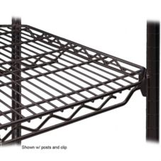 "Metro® 1448QBL qwikSLOT™ 14 x 48"" Black Finish Wire Shelf"