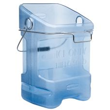 Rubbermaid Blue 5.5 Gal Safety Ice Tote w/ Bin Hook Adapter