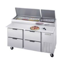 "Beverage-Air 67"" Pizza Top Refrigerated Counter with 4 Drawers"