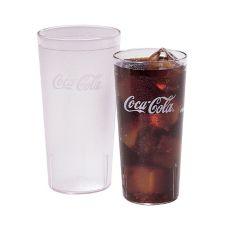 Cambro 32CC152 Clear 32 Oz. Coca-Cola® Plastic Tumbler - 24 / CS
